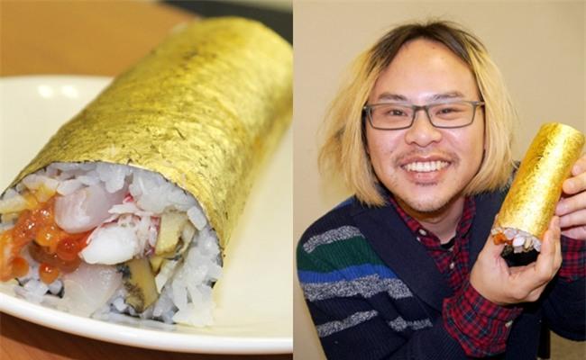 Có gì trong miếng sushi cuốn vàng trị giá 2,2 triệu đồng? - Ảnh 1.