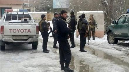 Cảnh sát bên ngoài hiện trường vụ tấn công Tòa án Tối cao Afghanistan