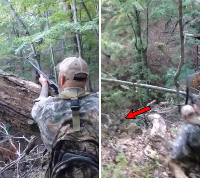 Video: Bị bắn, gấu giả chết rồi bất ngờ vùng dậy lao vào tấn công người đi săn - Ảnh 2.