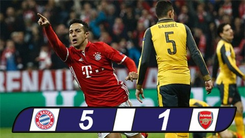 Giã nát Arsenal, Bayern cầm chắc vé vào tứ kết