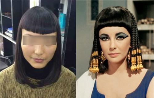 Chủ salon khoe kiểu tóc nữ hoàng Ai Cập tái sinh khiến khách hàng tê tái - Ảnh 1.