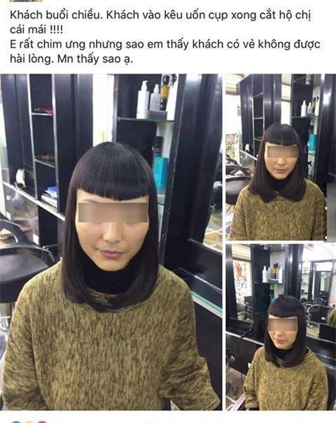Chủ salon khoe kiểu tóc nữ hoàng Ai Cập tái sinh khiến khách hàng tê tái - Ảnh 2.