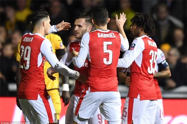 Vượt qua đội bóng nghiệp dư, Arsenal thẳng tiến vào tứ kết FA Cup - Ảnh 9.