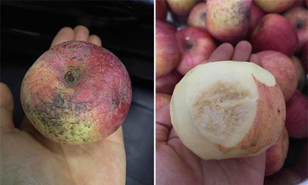Trường mầm non cho học sinh ăn táo mốc khiến phụ huynh bức xúc - Ảnh 2.