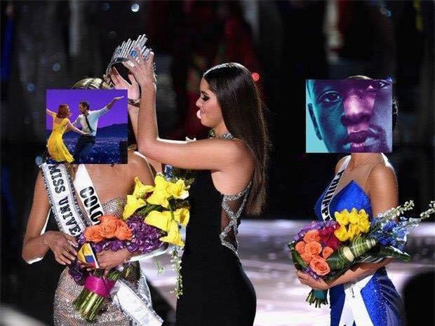 Cười không nhặt được mồm với ảnh chế MC trao nhầm giải cho La La Land tại Oscar 2017 - Ảnh 1.