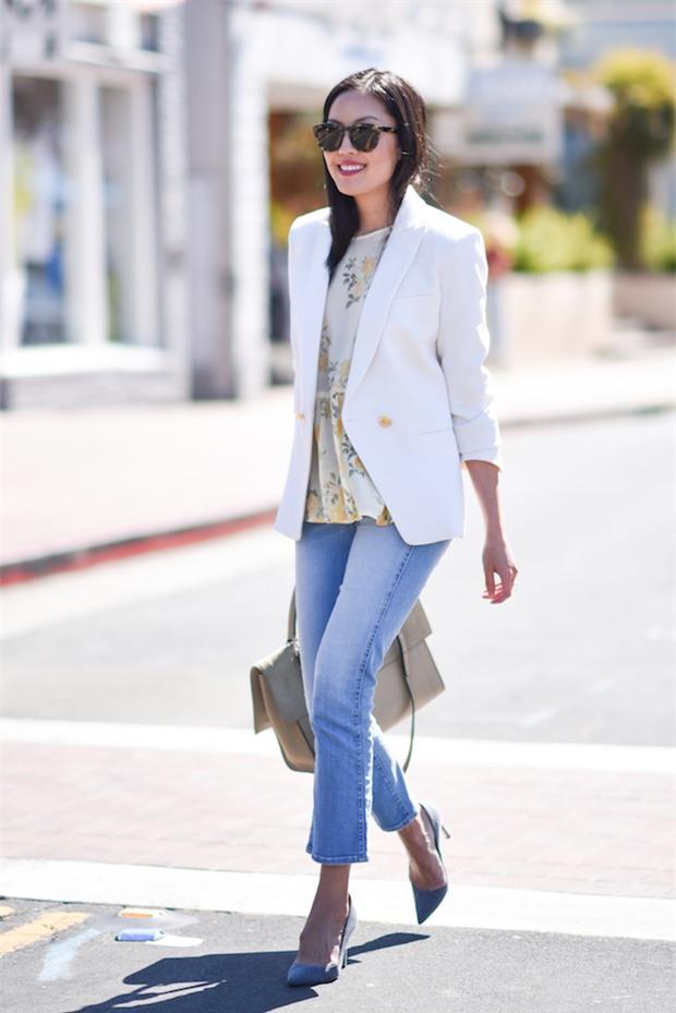 Đổi gió cho trang phục công sở hàng ngày với cặp đôi trời sinh: Quần jeans và áo blazers - Ảnh 5.