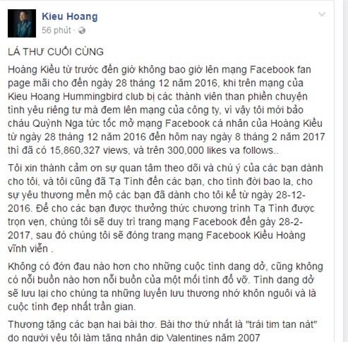 """truoc khi dong facebook, hoang kieu co """"beu rieu"""" ngoc trinh the nay hinh anh 5"""