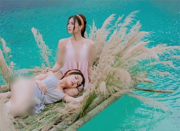 Một số hình ảnh hai cô gái chụp ảnh gợi cảm ở 'Tuyệt tình cốc' Hải Phòng  được Nguyễn Tú - người thực hiện bộ ảnh chia sẻ trên trang facebook cá nhân: