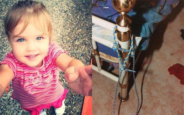 Bé gái 3 tuổi xinh xắn chết tức tưởi sau khi bị cha buộc vào giường, hành hạ suốt nhiều ngày - Ảnh 1.