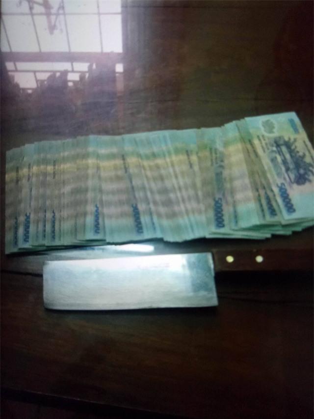 Số tiền nghi phạm cướp ở ngân hàng đã bị thu giữ