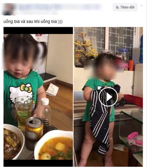 """me 9x ngo ngac khi bi dan mang """"nem da"""" vi khoe clip con gai uong bia say bi ti - 1"""