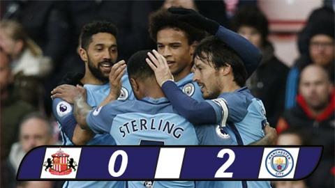 Thắng nhẹ Sunderland, Man City đòi lại vị trí thứ 3