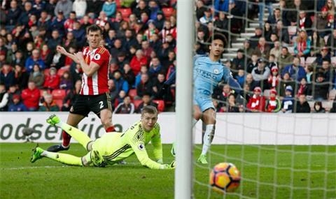 Sane dứt điểm quyết đoán ghi bàn cho Man City