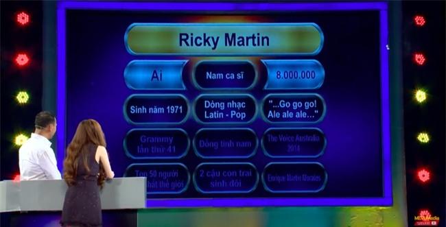 Chương trình Vì bạn xứng đáng gây tranh cãi khi cung cấp thông tin Ricky Martin bị đồng tính cho người chơi - Ảnh 4.