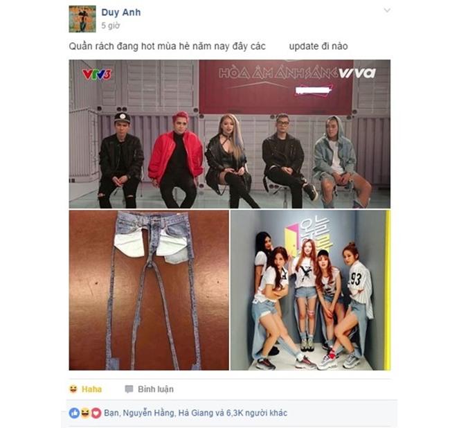 Quần rách tả tơi lên sóng VTV khiến cộng đồng mạng dậy sóng - Ảnh 2.