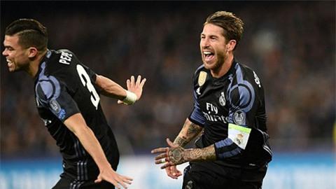 Đội trưởng Ramos tỏa sáng giúp Real ngược dòng thành công để vào tứ kết