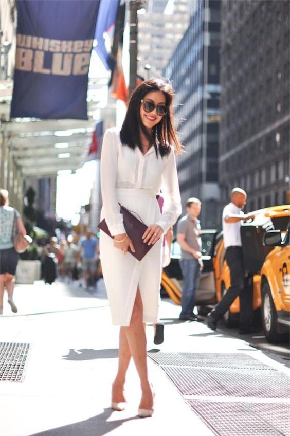 Gợi ý mix đồ đẹp đủ mọi đường với 5 thiết kế chân váy midi quen thuộc - Ảnh 13.