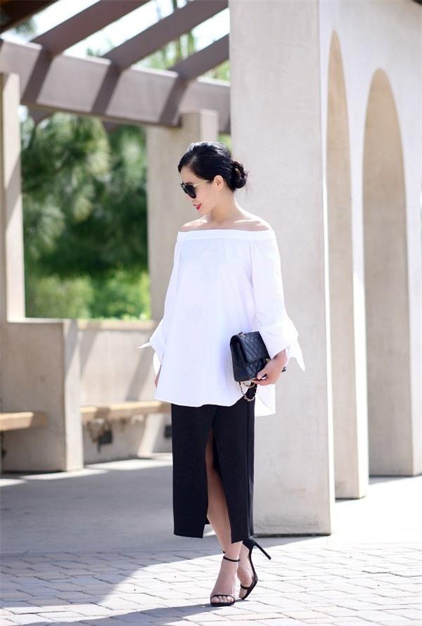 Gợi ý mix đồ đẹp đủ mọi đường với 5 thiết kế chân váy midi quen thuộc - Ảnh 14.