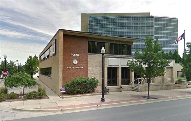 Sở cảnh sát thành phố Jackson, Michigan nơi xảy ra vụ việc.