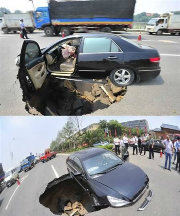 Bác lái xe chắc tim cũng rụng xuống hố luôn rồi.