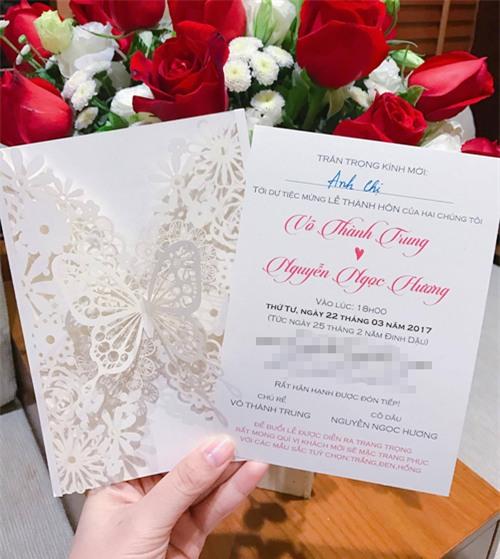 Lộ thiệp cưới cầu kì của MC Thành Trung - Ảnh 2.