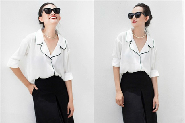 Sơmi trắng: chiếc áo vốn khô khan, nghiêm túc đang tự F5 mình bằng những cách điệu thú vị - Ảnh 25.