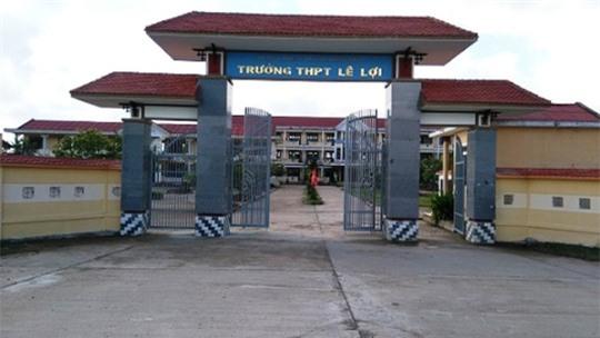 Trường THPT Lê Lợi, nơi được cho là nữ sinh N đang theo học