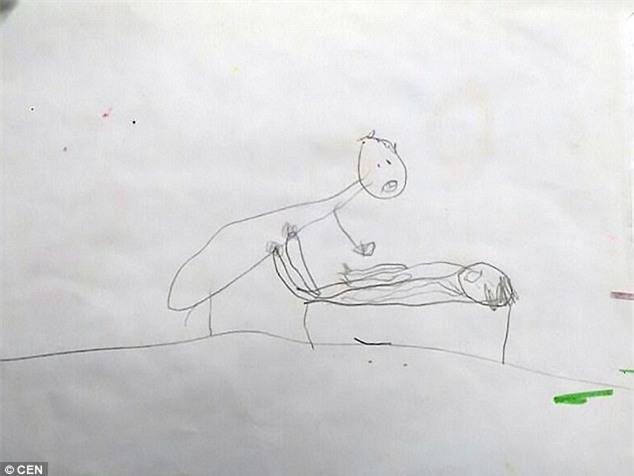 Nhờ bức tranh vẽ nguệch ngoạc, cha mẹ bàng hoàng phát hiện con gái 5 tuổi bị cưỡng hiếp nhiều lần - Ảnh 2.