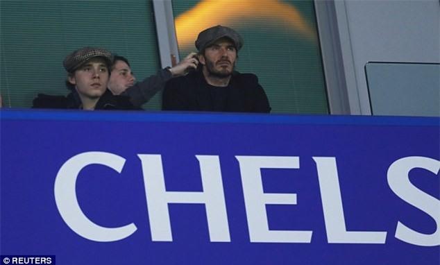 Beckham dan dau dan VIP den xem tran Chelsea gap MU hinh anh 2