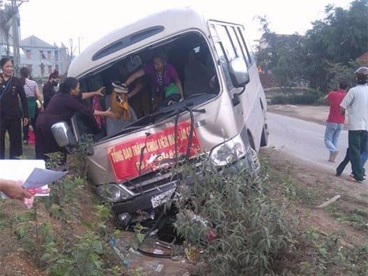 Hiện trường tai nạn khiến một người tử vong tại chỗ. Ảnh: Quách Linh.