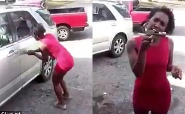 Một phụ nữ đập nát xe hơi hòng trả đũa bạn trai lừa đảo - Ảnh 2.