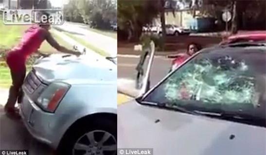 Một phụ nữ đập nát xe hơi hòng trả đũa bạn trai lừa đảo - Ảnh 3.