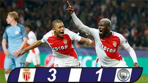 Hàng thủ tệ hại, Man City bị Monaco đá văng khỏi Champions League