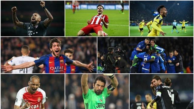 8 đội bóng góp mặt ở vòng tứ kết Champions League