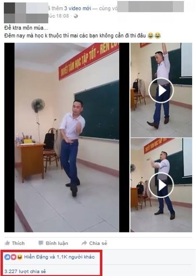 Clip thầy giáo Sư Phạm múa trên bục giảng hút triệu lượt xem - Ảnh 2.