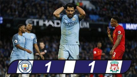 Phung phí cơ hội, Man City và Liverpool chia điểm tại Etihad
