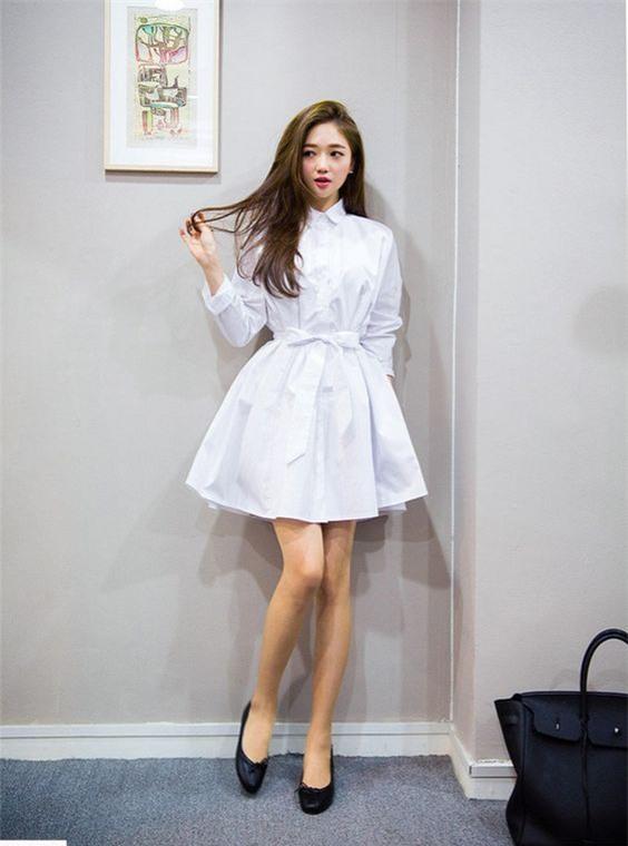Thời tiết mát mẻ, nàng công sở tha hồ đẹp xinh với đủ kiểu váy sơmi đến sở làm mỗi ngày - Ảnh 13.