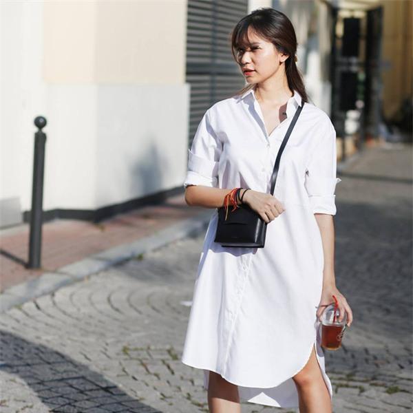 Thời tiết mát mẻ, nàng công sở tha hồ đẹp xinh với đủ kiểu váy sơmi đến sở làm mỗi ngày - Ảnh 2.