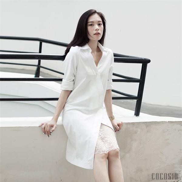 Thời tiết mát mẻ, nàng công sở tha hồ đẹp xinh với đủ kiểu váy sơmi đến sở làm mỗi ngày - Ảnh 3.