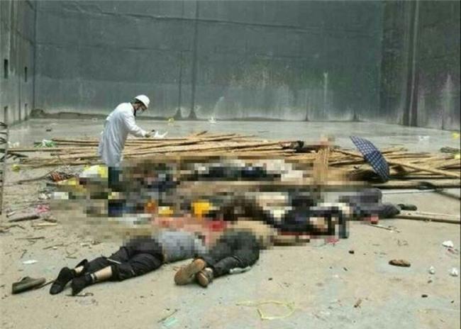 Trung Quốc, TQ, sập giàn giáo, nhà máy nhiệt điện, chết người, tai nạn, sập