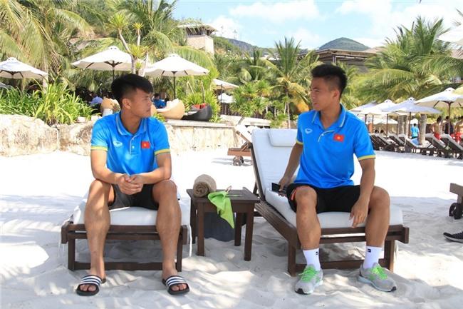 U20 Viet Nam thoai mai vui dua o khu nghi mat 5 sao hinh anh 7