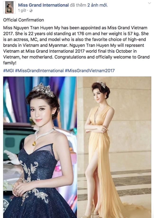 Á hậu Huyền My là đại diện Việt Nam tham gia Miss Grand International 2017! - Ảnh 1.