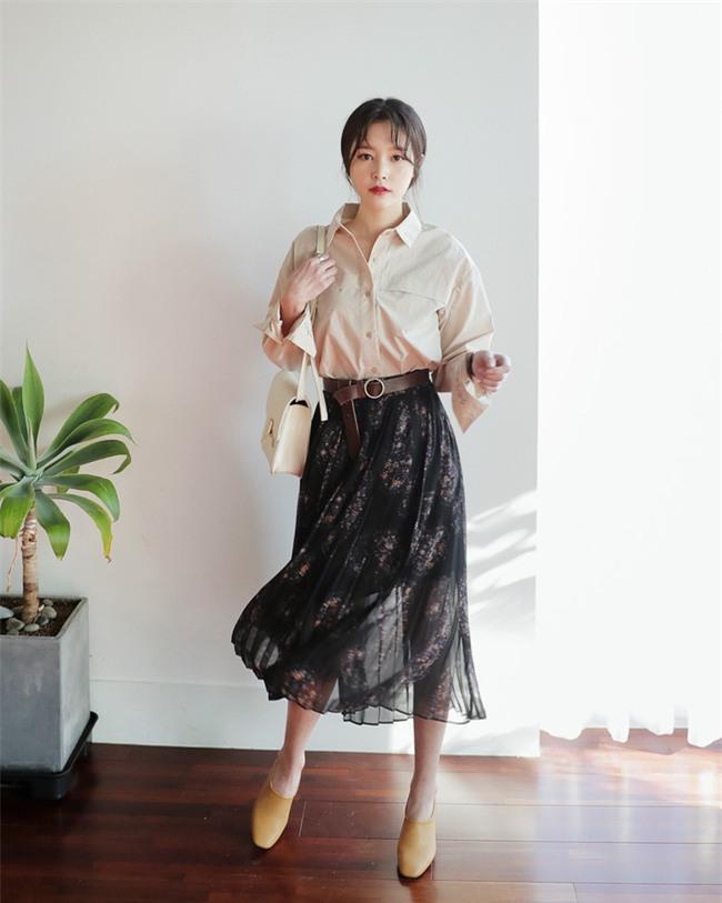 Nắng lên một cái là cô nàng điệu đà tha hồ diện những mẫu chân váy xòe bồng bềnh thế này - Ảnh 9.