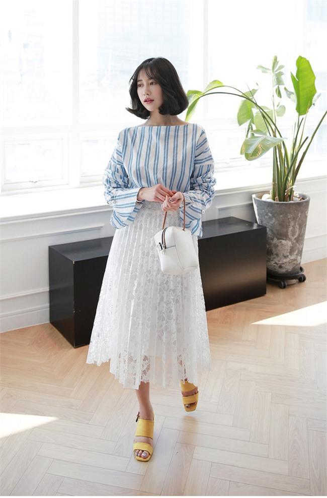 Nắng lên một cái là cô nàng điệu đà tha hồ diện những mẫu chân váy xòe bồng bềnh thế này - Ảnh 10.
