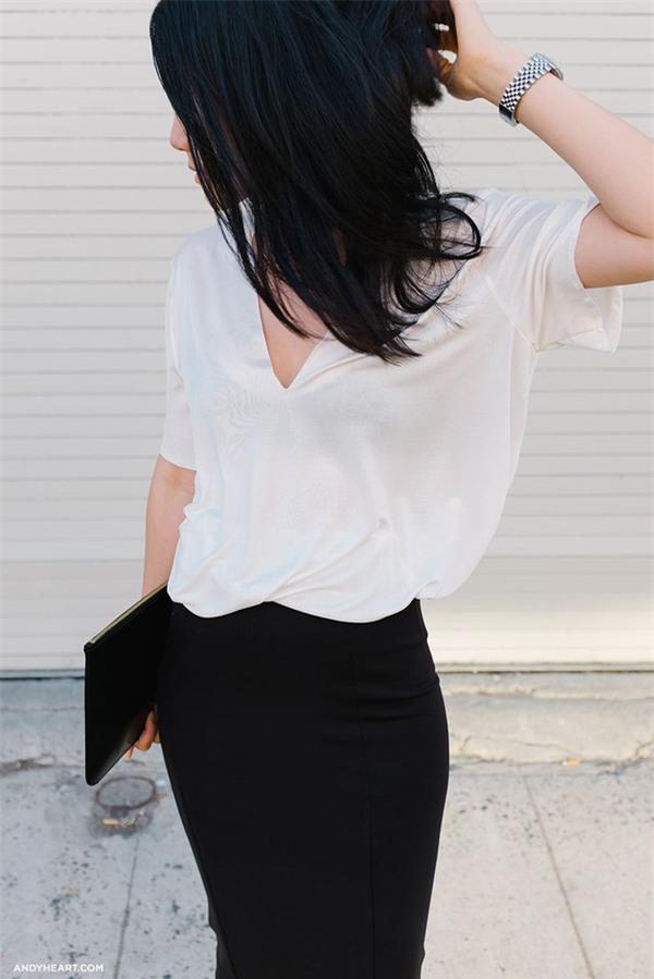 Chưa cần phải chất, mặc áo phông cứ kết hợp đơn giản thế này là đẹp - Ảnh 5.