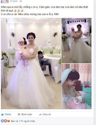 Câu chuyện phía sau bức ảnh cô dâu cho con bú trong ngày cưới - Ảnh 1.