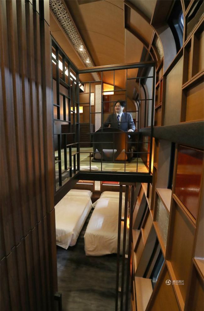 Khung cảnh xa hoa bên trong khách sạn 5 sao di động trên đường ray Nhật Bản - Ảnh 2.
