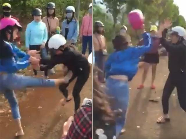 Nữ sinh lớp 10 đánh nhau như phim hành động - 1