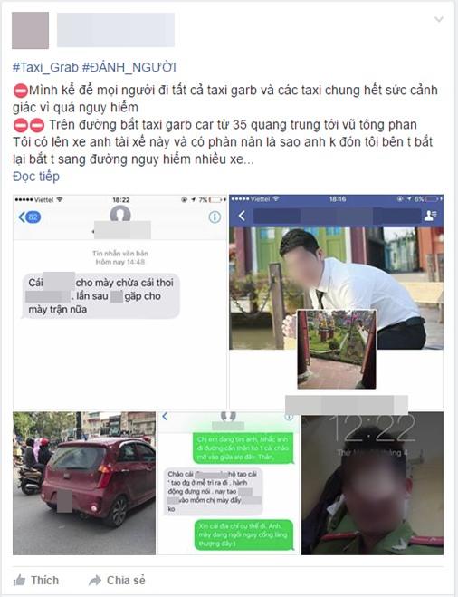 Nữ hành khách ở Hà Nội tố bị tài xế Grab hành hung sau khi cãi vã về chuyện sang đường đón xe - Ảnh 1.
