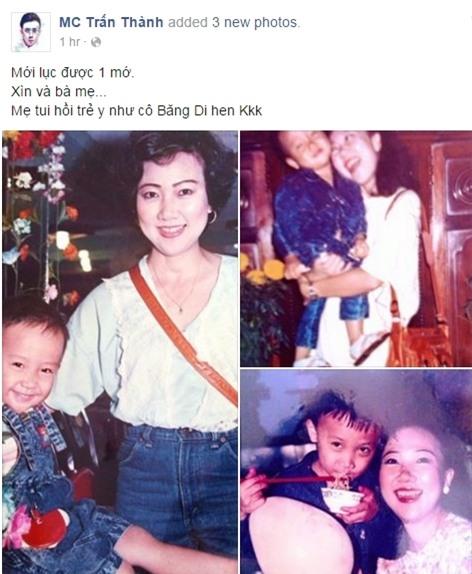 Anh chia sẻ trên fanpage cho rằng mẹ anh có diện mạo giống với ca sĩ Băng Di. - Tin sao Viet - Tin tuc sao Viet - Scandal sao Viet - Tin tuc cua Sao - Tin cua Sao